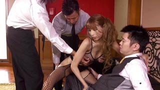 Three Men Sharing An Asian Milf
