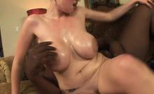 Busty Blonde Katie Kox Rides A Huge Black Cock