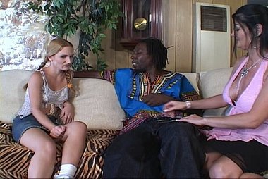 Gen Padova Shares A Huge Black Dick With Horny Friend Ikari