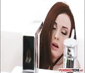 Goth Teen Chloe Carter Banged N Facialed
