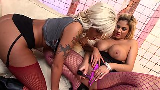 Big Breasted Lesbian Couple Loves Making Each Other Wet With Her Favorite Toys