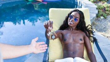 Pool Boy And Black Socialite Ana Foxxx Have An Outdoor Affair