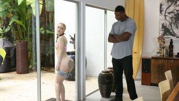 Blonde Rebel Lily Rader Blacked By Neighbor In Living Room