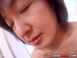 Mature Japanese Got Her Hairy Pussy Licked And Banged From Behind