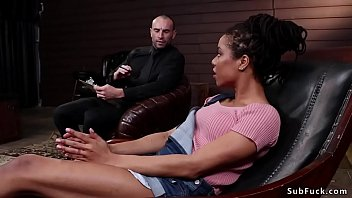 Ebony Bdsm Fucked By Four At Therapist