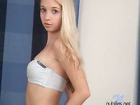 Hottie In Her Underclothes Has Cute Petite Boobs And A Great Taut Legal Age Teenager Butt