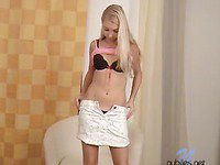 Watch This Cute Blond Strip Down And Smile So Innocently