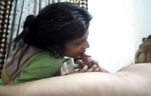 Indian GF Gives Blowjob POV