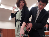 Slutty Japanese Girl Shiori Uehara Gets Fucked In A Court