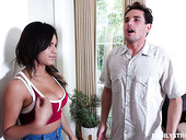 Slutty Stepsister Autumn Falls Gives A Boobjob And Gets Her Cunt Nailed
