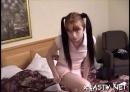 Teasing Schoolgirl Taped