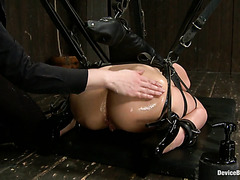 Painful Spanking Of Marica Hase's Enslaved Japanese Ass