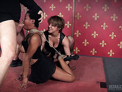 Black Kahlista Stonem Gets Roughly Fucked By A White Couple