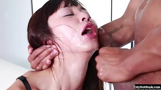 Sizzling Marica Hase Enjoys Sucking Huge Black Dong Before Sex