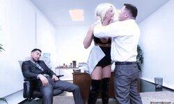 Blonde Secretary Bdsm Anal Gangbang