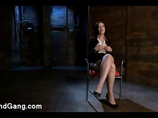Brunette Babe Kimberly Kane Gangbang Bdsm Fucked In Office
