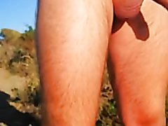 Uncut Beach Cock Is A Precum Faucet