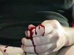 Freak Boi Bleeds From Cock Like A Running Faucet