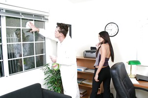 Dark Haired Shy Is Drilled By Handsome Donny Long At Work