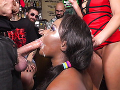 Black German Slave Sunny Star Is Fucked, Fisted, And Pissed In Public