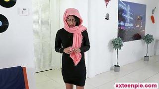 Latina Teen Binky Beaz Dressed As An Arab Gal Sucks Her Neighbor's Cock As Never Before
