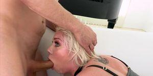 Blonde Whore Chanel Loves Double Penetration