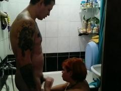 BBW Gets Fucked Hard In The Bathroom
