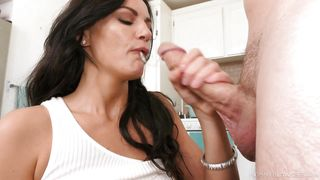 Blowing A Long Cock Is Her Specialty