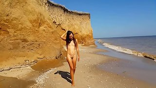 Asian Teen Tiny Ass Creampied On The Public Beach, Part 1