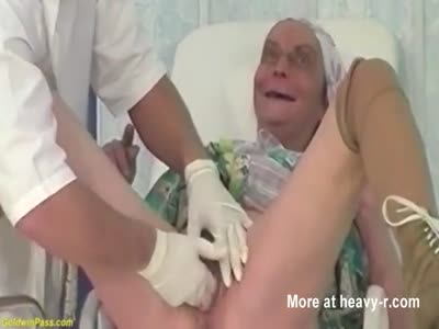 Doctor Inserts Hand Granny's Vagina