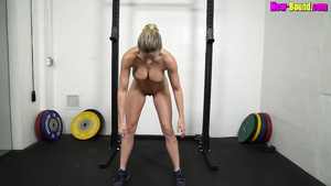 Muscled Mom Works Out Naked   Fitness With Busty Blonde MILF Cory Chase