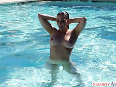 Rachel Starr Gets Banged By Her Best Friend's Muscular Hubby After Swimming