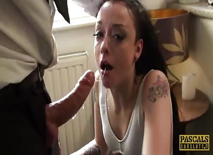 Nymph Brit Slut Rough Brutal Fucked