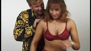 Fingered And Fucked Sideways In Her Hairy Cunt